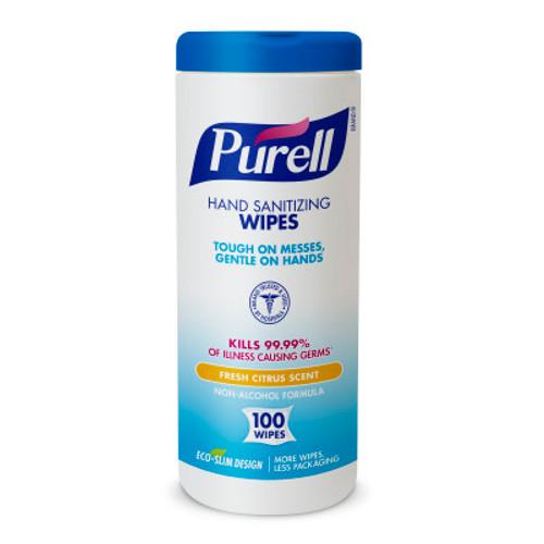 Gojo Purell Santizing Hand Wipes, Eco-Slim Canister, 100/cn 9111-12