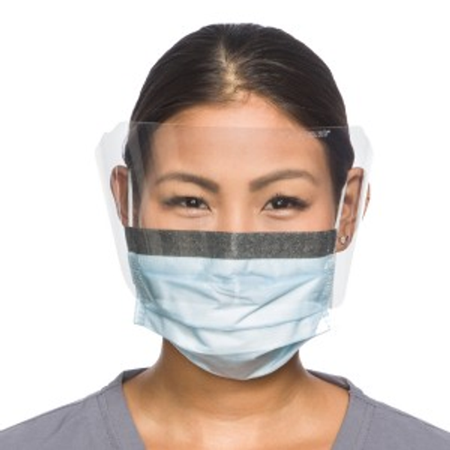 Procedure Visor pkg Resistant Pleat Halyard Blue Kimguard Mask 25 Fog-free cs Protector� Splash With 4pkg Earloop