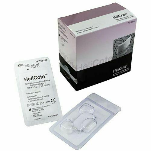 """Miltex Helicote Collagen Wound Dressing 3/4""""x1.5"""", 10/bx"""