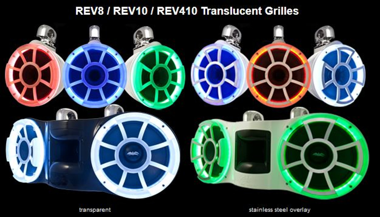 Rev 410 Translucent Grill (shown on the speakers on the left)