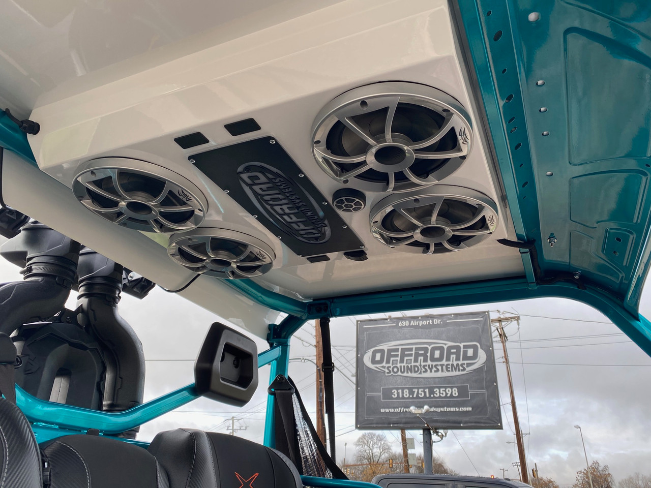 Can Am Defender Fully Loaded Roof Option 1 (4 speaker)