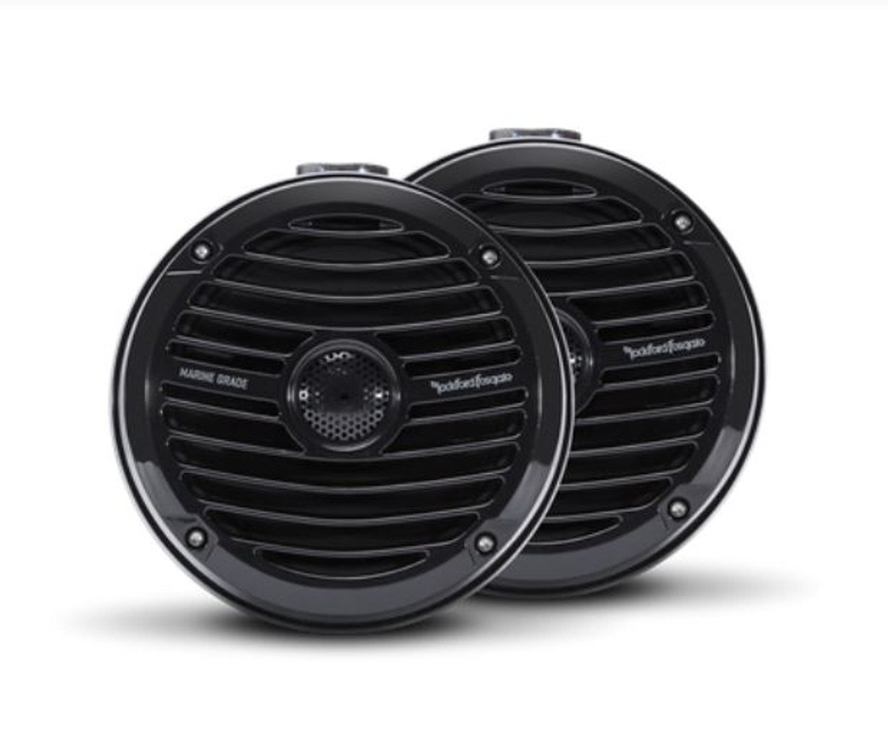 """The RM1652W-MB is a black compact marine grade full-range speaker with a 6.5"""" midrange and 1"""" bridge mounted tweeter. Designed specifically for UTV audio and wake tower installations."""