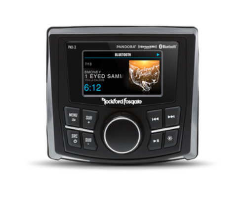 "Rockford Fosgate PMX-3 Compact Digital Media Receiver w/ 2.7"" Display"