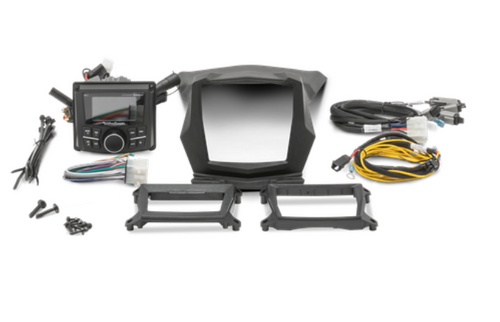 Our Stage 1 kit lets you easily add the PMX-2 digital media receiver to your X3 using the included dash mounting kit. Coming prepackaged with all necessary hardware and pre-terminated wire harness, this kit allows you to quickly upgrade your X3 with minimal time and tools required.