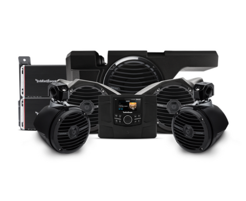 600 Watt stereo, front and rear speaker, and subwoofer kit for select Polaris® RZR® models