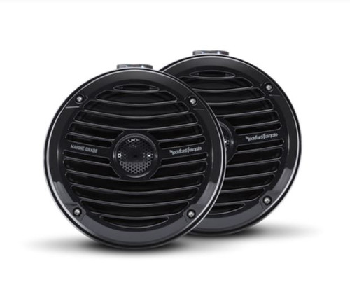 "The RM1652W-MB is a black compact marine grade full-range speaker with a 6.5"" midrange and 1"" bridge mounted tweeter. Designed specifically for UTV audio and wake tower installations."