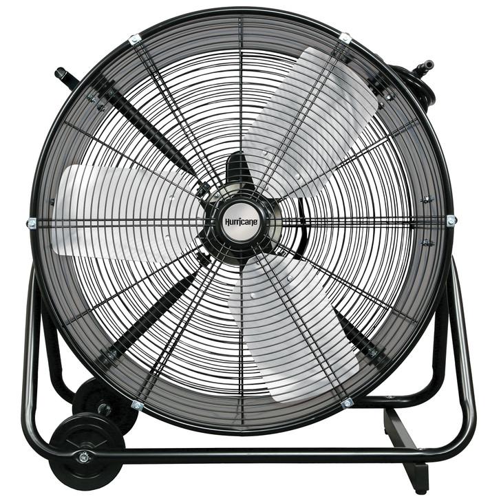 Hurricane Pro Heavy Duty Adjustable Tilt Drum Fan 24 in