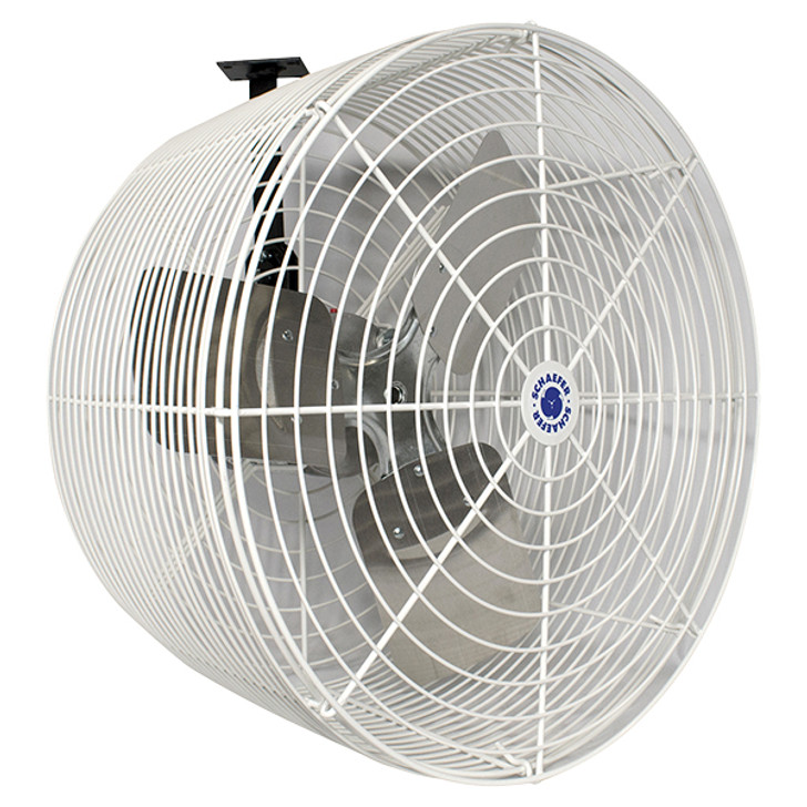 Schaefer Versa-Kool Circulation Fan 20 in w/ Tapered Guards, Cord & Mount - 5470 CFM