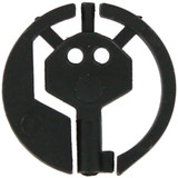 Black Covert Handcuff Key