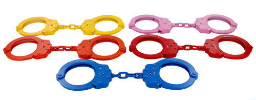 Group shot of Colored Peerless Handcuffs