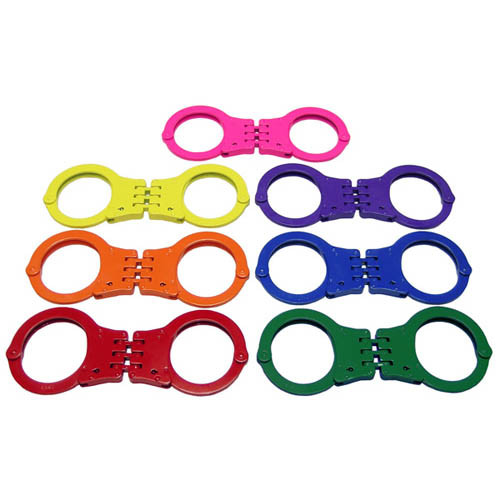 CTS Color Coated Hinged Handcuffs