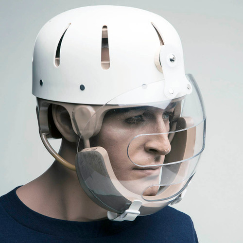 Humane Restraint Hard Shell Protective Helmet w/Face Shield