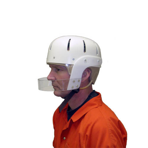 Humane Restraint Hard Shell Protective Helmet w/Face Bar