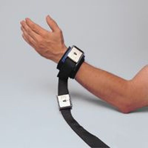 Posey Model 2798 Locking T-A-T Cuffs, Lock on Cuff and Connecting Strap, Wrist