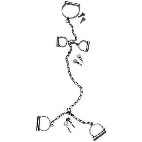 Chicago Model 1675 Combo Neck Collar, Handcuffs, Leg Irons