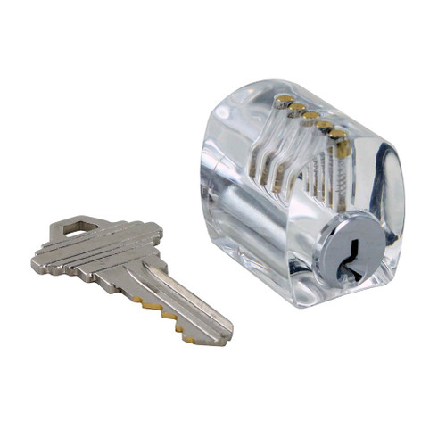 Clear Practice Lock, Serrated Pins