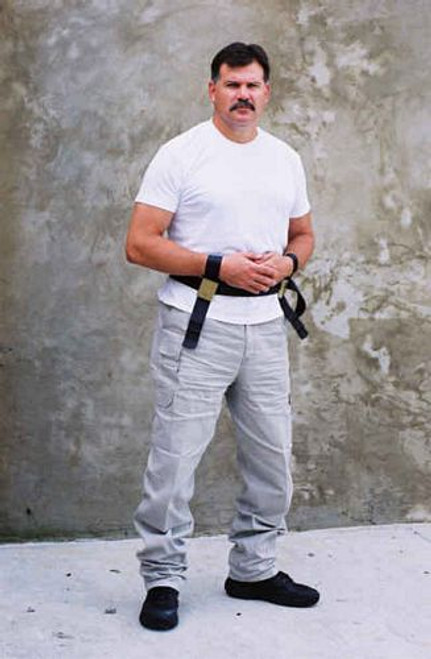 The Grip Restraint MRI-safe Waist Belt with Fixed Wrist Restraints