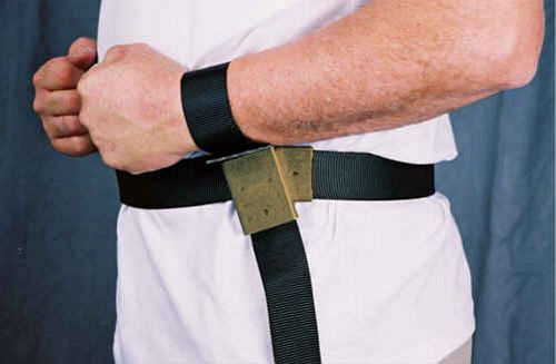 The Grip Restraint MRI-safe Waist Belt with Rotating Wrist Restraints