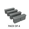 Screening - ALUMINIUM END CAP - Powder coated BASALT Suits 65x16.5mm slat 4 PACK