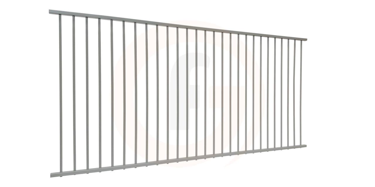 Flat Top Pool Panel Silver