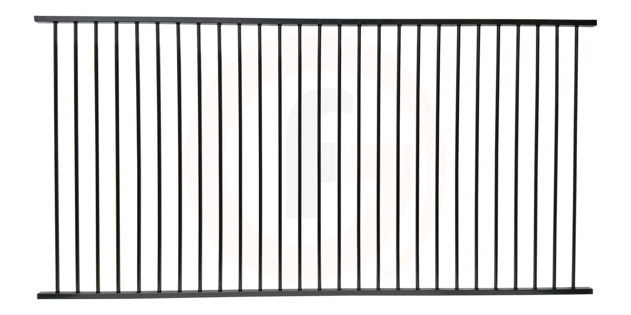 HEAVY DUTY ALUMINIUM FENCE PANEL - 2 45m W x 1 2m H - EXTRA DISCOUNTED