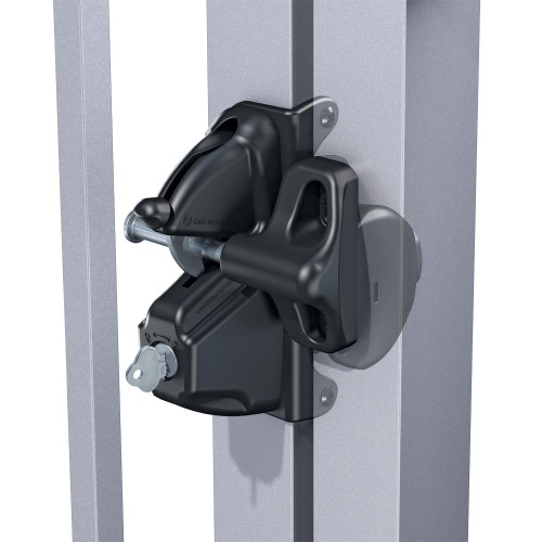 Deluxe Heavy Duty Lockable Gate Latch - NOT POOL COMPLIANT - Black