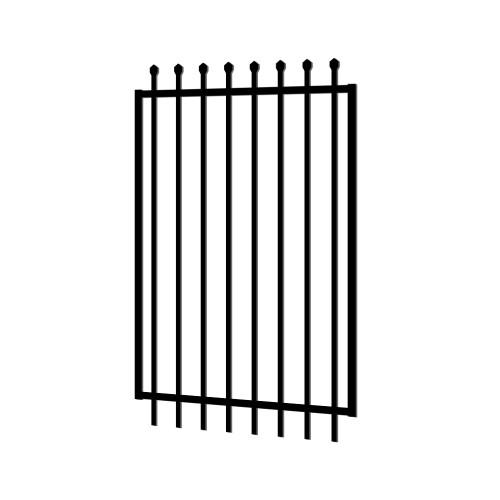 1.2m wide x 2.1m high Aluminium Crimped Top Security Gate