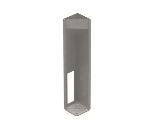 Concealed Heavy Duty Base Plate for Semi Privacy Posts - 616mm long - NOT FOR GATE POSTS
