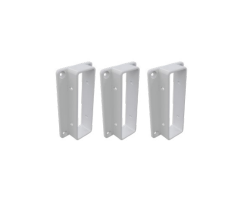 3 Rail Fencing Brackets (Pack of 3 with 12 screws)