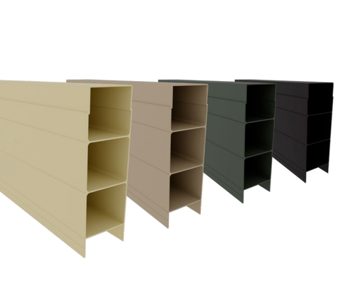 Aluminium Stackable Sleeper - 2385mm long x 150mm high - Available in 4 Colours