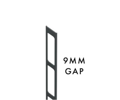 Aluminium Insert for C-Channel - 9mm Gaps - 2100mm Long