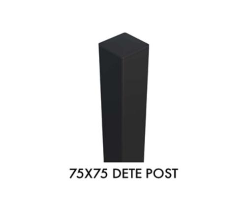 75x75mm Very Heavy Duty DETE Spec Post - 3000mm Long - Powder Coated Black
