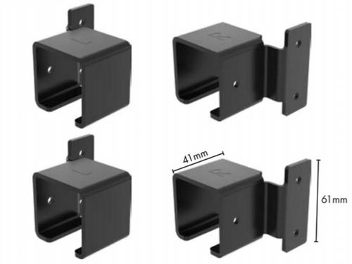 Heavy Duty Security Fence Panel Fittings Set - No visible fixings from outside of fence
