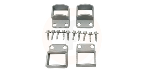 Panel Fittings Set - 4 brackets with screws - Silver (Palladium Silver).