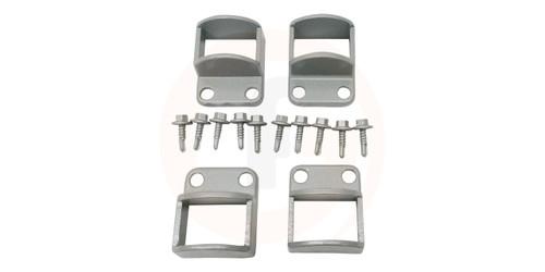 Panel Fittings Set - 4 brackets with screws - Silver (Palladium Silver).