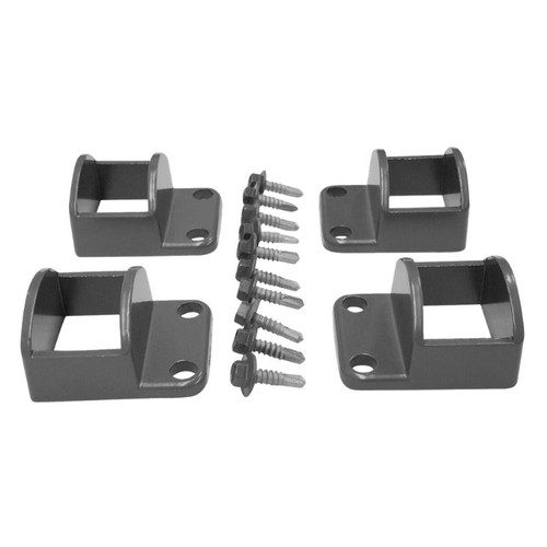 Panel Fittings Set - 4 brackets with screws - Woodland Grey