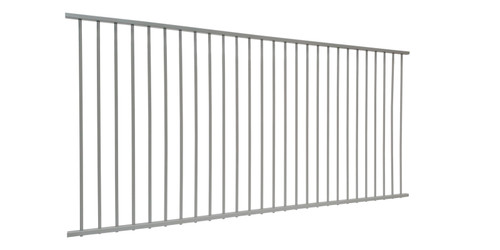 3m wide x 1.2m high Flat Top Pool Fence Panel IN STOCK in Primrose