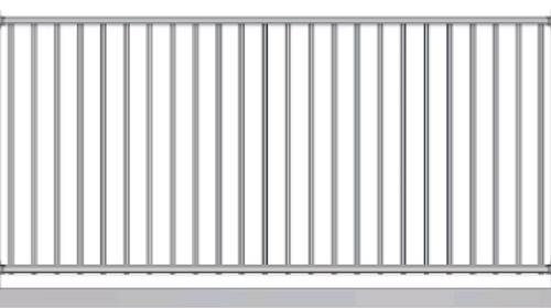 Light Duty - 1.1m high Aluminium Fence panel