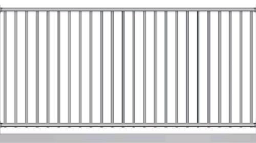 Light Duty - 1.1m high Aluminium Fence panel