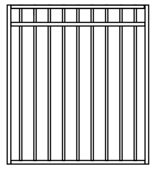 Double Top Rail Pool Grade Gate 970mm wide