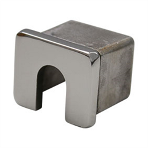 25mm x 21mm - Square Mini Slotted End Cap/Wall Plate