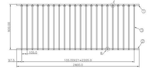 900mm high Fence Panel Detail