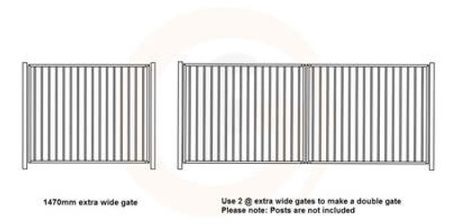 Extra wide gate, 1475mm wide x 1200mm high. In colour of your choice!