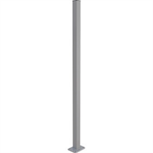 Aluminium fence post with base plate 1.3m long