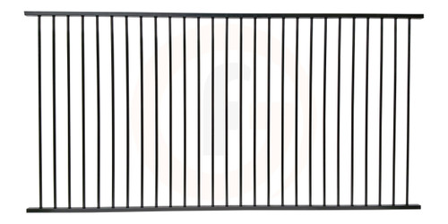 Pool fence safety panel 2.4m wide* x 1.2m high. Powdercoated Black