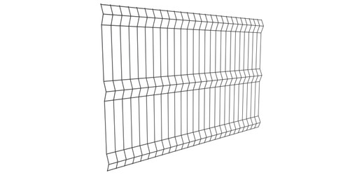 BlackWire - Galvanized Weld Mesh Fence Panel, Powder Coated Black.