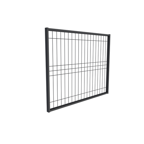 BlackWire Weld Mesh Gate, Galvanized Steel Powdercoated Black. 960mm wide.
