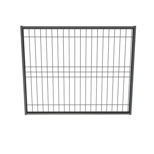 BlackWire, Weld Mesh Gate, Galvanized Steel Powdercoated Black. 1500mm wide.
