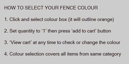 Select your colour - instructions.