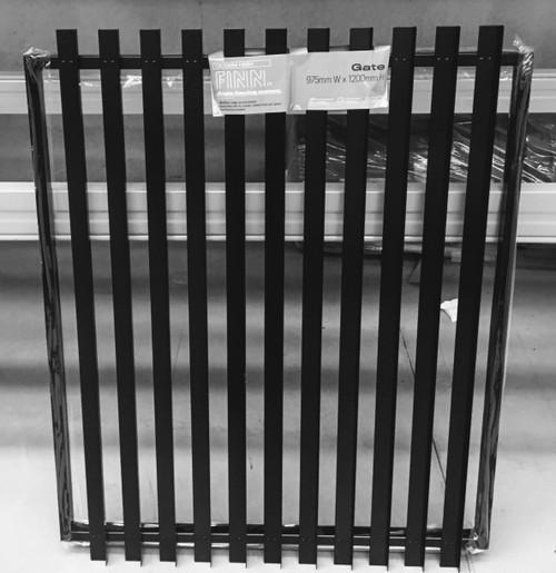 Slat-Fence - 1.8m High Vertical Slat Pool Safe Gate. Powder Coated Black.